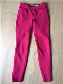 Pink ridebukser med grip