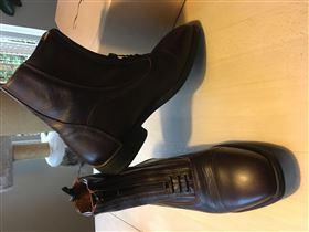 Korte læderridestøvler