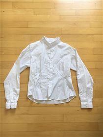 Hvid equipage stævneskjorte
