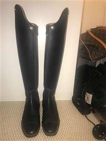 Ny Pris! Brugt 2 gange - Dressur ride støvler med høj dressurbue